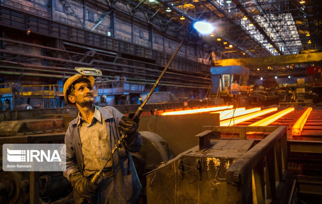 تولید شمش فولادی ۱۰ درصد افزایش یافت