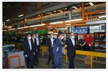 بازدید مدیر عامل بانک تجارت از کارخانه پاکشوما