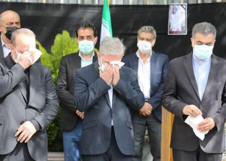 تشییع پیکر مرحومه «فاطمه مظهری» دومین شهید مدافع سلامت بیمارستان بانک ملی ایران
