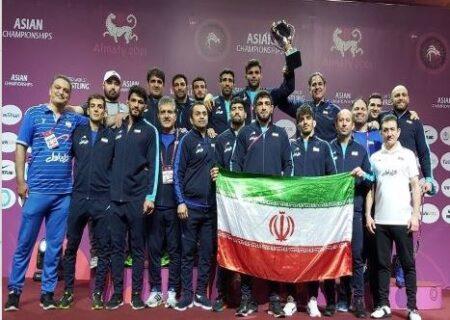 پهلوانان کشتی آزاد ایران با حمایت همراه اول «قهرمان آسیا» شدند
