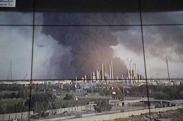 آتش سوزی تنها در یک مخزن گازوئیل پالایشگاه تهران است