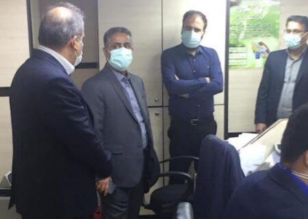 بازدید سرزدهی مدیرعامل بانک مسکن از شعبه پانزده خرداد تهران