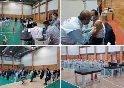 واکسیناسیون کارکنان بانک صادرات ایران از گیلان آغاز شد