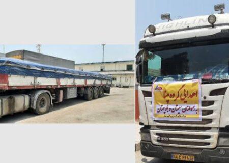 ارسال بخشی از محمولههای آب آشامیدنی اهدایی گروه مپنا به هموطنان سیستان و بلوچستان