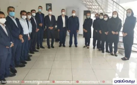 بازدید سرپرست معاون فنی بیمه تعاون از شعبه البرز