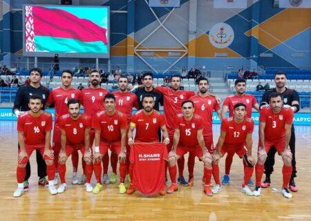 ایران با بیشترین بازی تدارکاتی در جام جهانی فوتسال