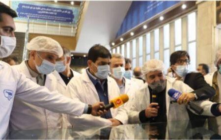 بازدید معاون اول رئیس جمهور و وزیر صمت از پگاه تهران