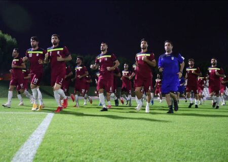 نخستین تمرین تیم ملی فوتبال ایران در قطر