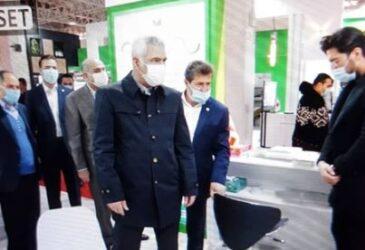 بازدید مدیرعامل و اعضای هیات مدیره پست بانک ایران از بیست و یکمین نمایشگاه بین المللی تلکام