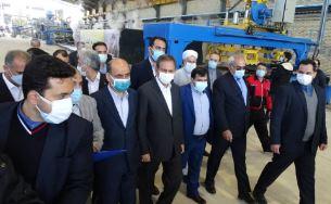 افتتاح یک واحد تولیدی با حمایت بانک ملی ایران در حضور معاون اول رئیس جمهور