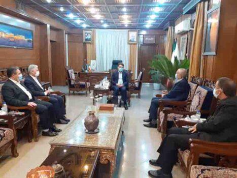 حضور ریس هیات مدیره بانک کشاورزی و هیات همراه در استان کرمان