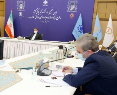 قدردانی از مدیرعامل بانک ملی ایران در حضور معاون اول رئیس جمهور