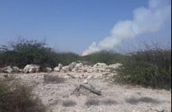 شعله های گاز در جنوب غربی جزیره، نگران کننده نیست