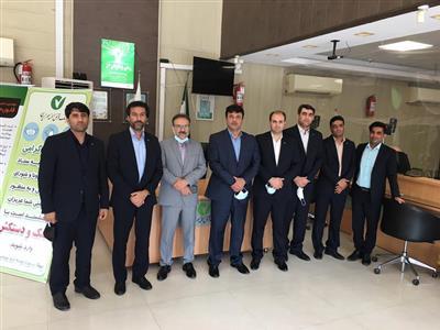 رئیس هیأت مدیره بانک مهر ایران از شعبه کیش بازدید کرد