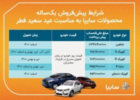 فروش فوق العاده ۴ محصول گروه خودروسازی سایپا/ تحویل خودروها ۹۰روزه است/ متقاضیان سه روز برای ثبت نام فرصت دارند