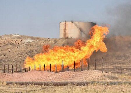آتش اطراف خطوط لوله نفت منطقه برومی اهواز خاموش شد