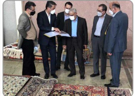بازدید مدیرعامل ملل از کارخانجات شرکت سهامی فرش ایران
