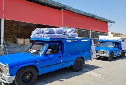 ارسال کمک های ذوب آهن اصفهان و فراوردههای نسوز به سیستان و بلوچستان