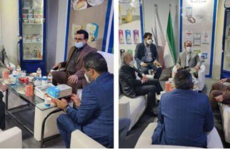 بازدید رئیس هیئت مدیره پگاه از غرفه صنایع شیر ایران