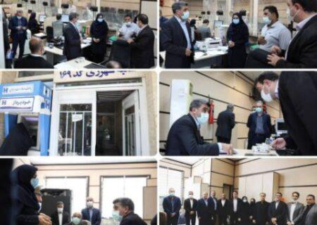 بازدید سرزده حجتاله صیدی از شعب کشیک بانک صادرات ایران