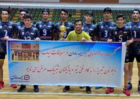 تیم والیبال بیمه سامان، قهرمان مسابقات لیگ جوانان تبریز