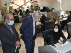 دکتر شیری مدیرعامل بانک از مرکز پاسخگویی به تماس مشتریان بازدید کرد